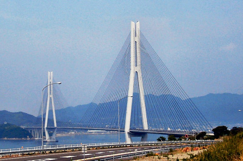 Figure 3  Tatara Ohashi cable-stayed bridge in Japan   1  Cable Stayed Bridge